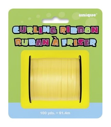 YELLOW CURLING RIBBON 100 YDS