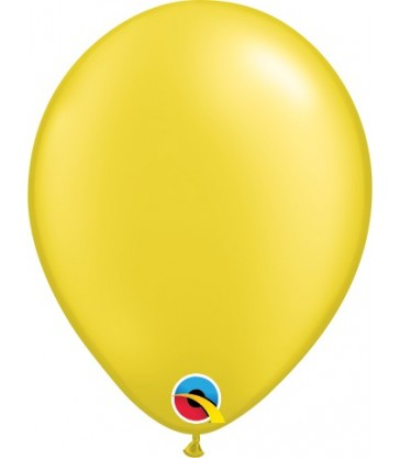 "Pearl Yellow Pack of 100 5"" latex balloons"