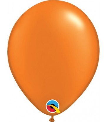 "Pearl Orange Pack of 100 5"" latex balloons"