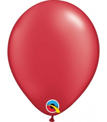 "Pearl Red Pack of 100 5"" latex balloons"