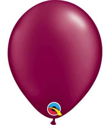 "Pearl Burgundy Pack of 100 5"" latex balloons"