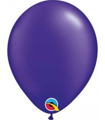 "Pearl Quartz Purple Pack of 100 5"" latex balloons"