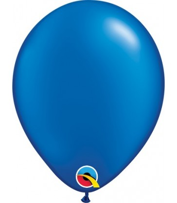 "Pearl Sapphire Blue Pack of 100 5"" latex balloons"