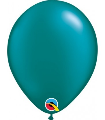 "Pearl Teal Pack of 100 5"" latex balloons"