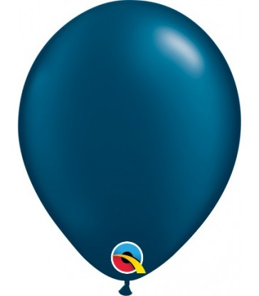 "Pearl Midnight Blue Pack of 100 5"" latex balloons"