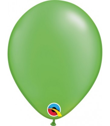 "Pearl Lime Green Pack of 100 5"" latex balloons"