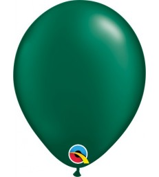 """Pearl Forest Green Pack of 100 5"""" latex balloons"""