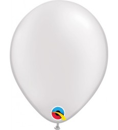 """Pearl White Pack of 100 5"""" latex balloons"""