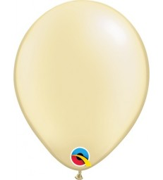 """Pearl Ivory Pack of 100 5"""" latex balloons"""