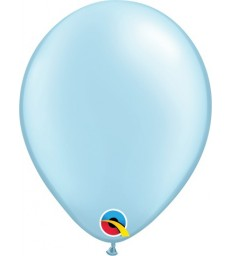 """Pearl Light Blue Pack of 100 5"""" latex balloons"""