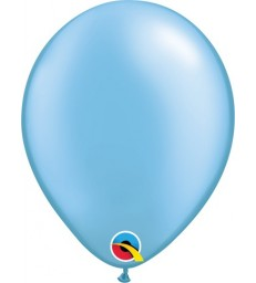 """Pearl Azure Pack of 100 5"""" latex balloons"""