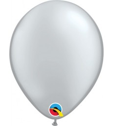 """Pearl Silver Pack of 100 5"""" latex balloons"""