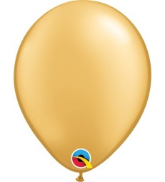 """Pearl Gold Pack of 100 5"""" latex balloons"""