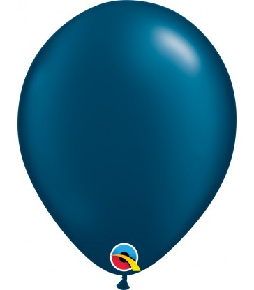 """Pearl Midnight Blue Pack of 100 11"""" latex balloons"""