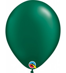 """Pearl Forest Green Pack of 100 11"""" latex balloons"""
