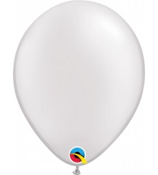 """Pearl White Pack of 100 11"""" latex balloons"""