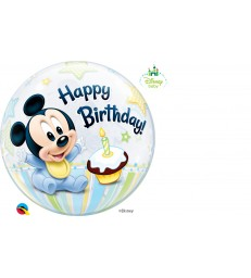 "Disney Mickey Mouse 1st Birthday 22"" balloon"