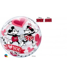 "Disney Mickey & Minnie I Love You 22"" balloon"