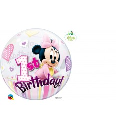 "Disney Minnie Mouse 1st Birthday 22"" balloon"