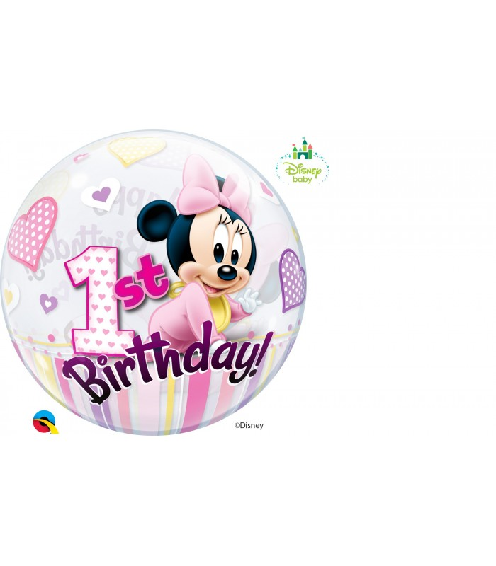 "Disney Minnie Mouse 1st Birthday 22"" balloon"