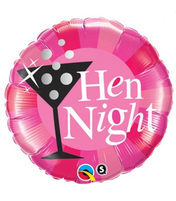 "Hen Night Pink 18"" balloon"