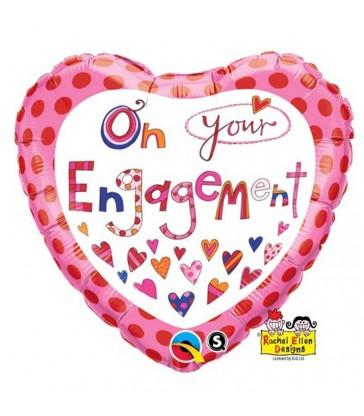 """Rachel Ellen - On Your Engagement 18"""" balloon"""