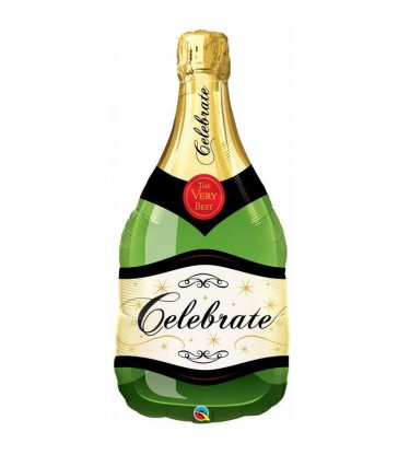 "Celebrate Bubbly Wine Bottle 39"" balloon"