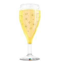 "Bubbly Wine Glass 39"" balloon"