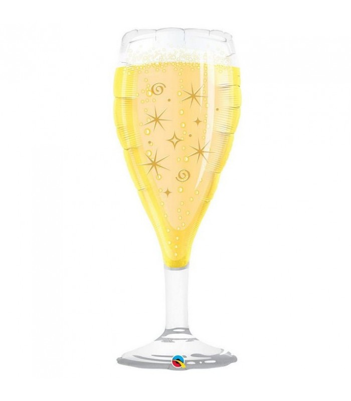 "Bubbly Wine Glass 39"" balloon"
