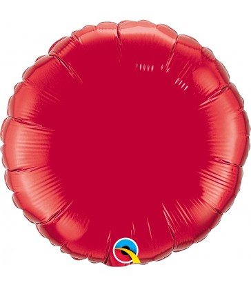 "Ruby Red Round 18"" balloon"