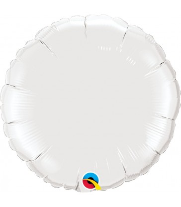 "White Round 18"" balloon"