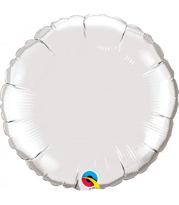 "Silver Round 18"" balloon"