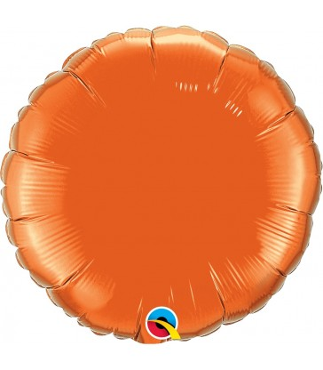 "Orange Round 18"" balloon"