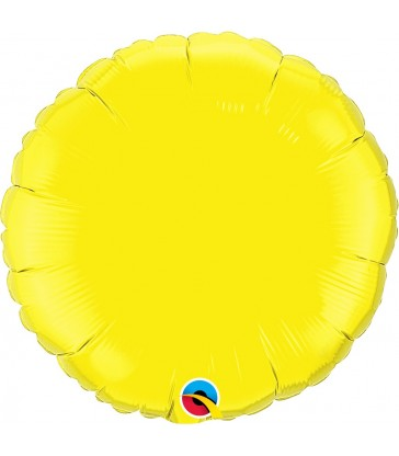 "Yellow Round 18"" balloon"