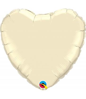 """Ivory Heart 18"""" balloon"""