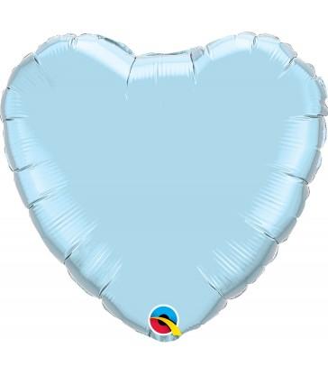 "Light Blue Heart 18"" balloon"