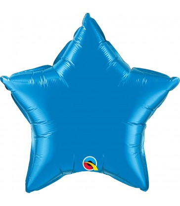 """Sapphire Blue Star 20"""" balloon"""