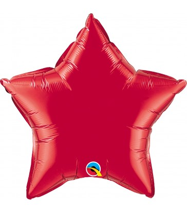 """Ruby Red Star 20"""" balloon"""