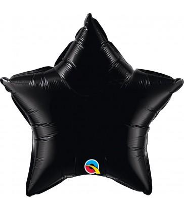"Black Star 20"" balloon"