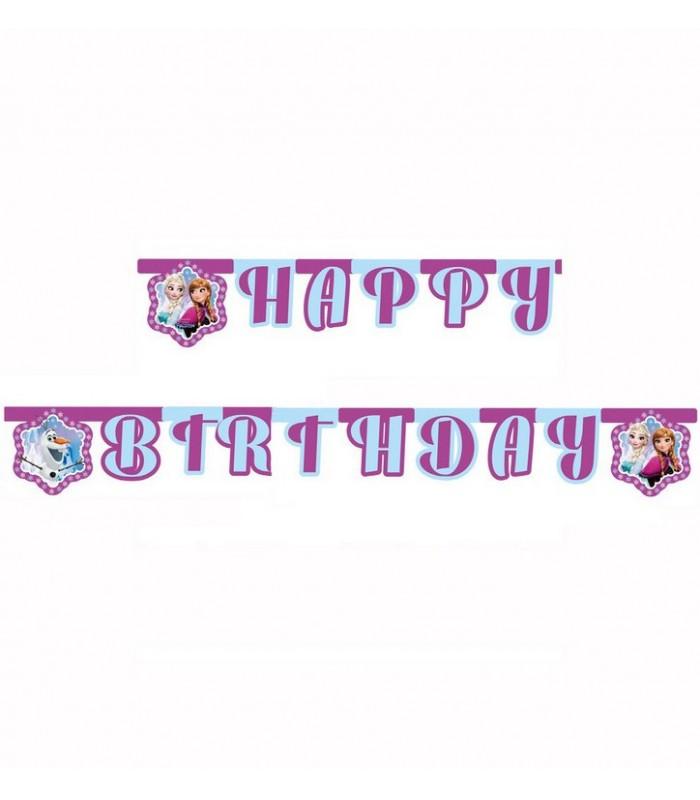 Disney Frozen Happy Birthday Banner