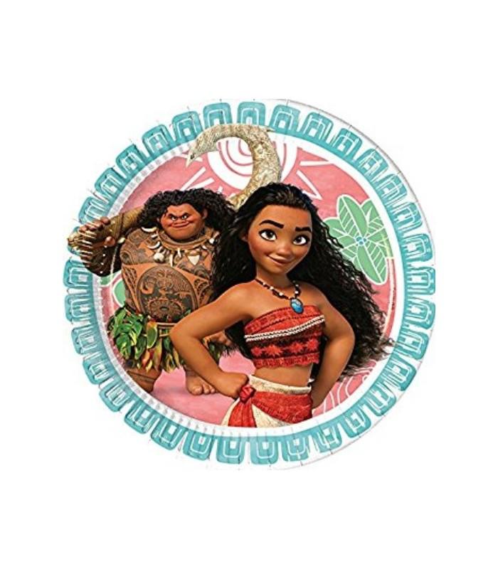 Disney Moana 8 Paper Plates