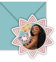 Disney Moana 6 Invitations & Envelopes