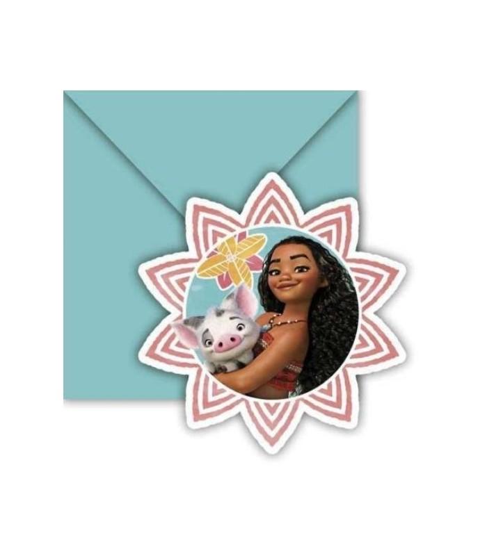 Disney Moana 6 Invitations & Envelopes