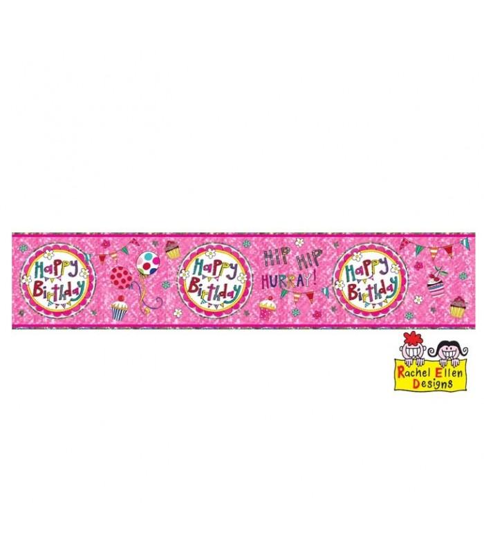 Rachel Ellen - Happy Birthday Perfect Pink Banner