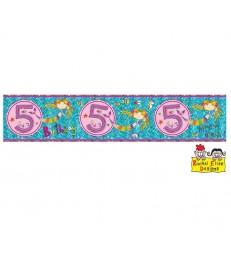 Rachel Ellen - Age 5 Mermaid Banner