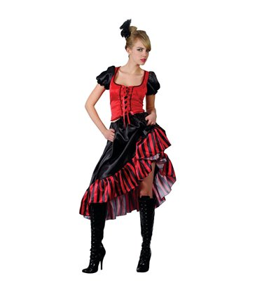 Can Can Saloon Girl - Red (M)