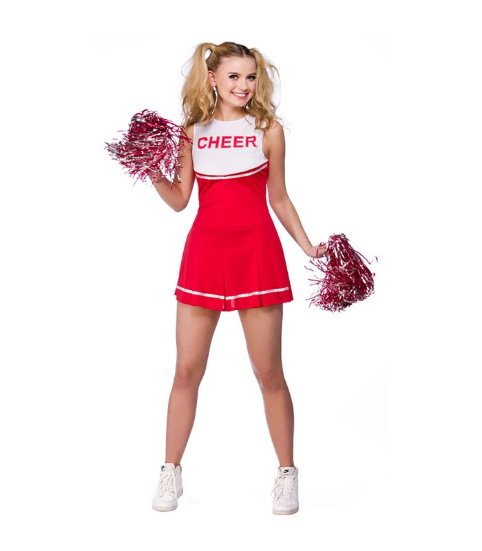 High School Cheerleader - Red (L)