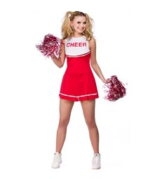 High School Cheerleader - Red (S)
