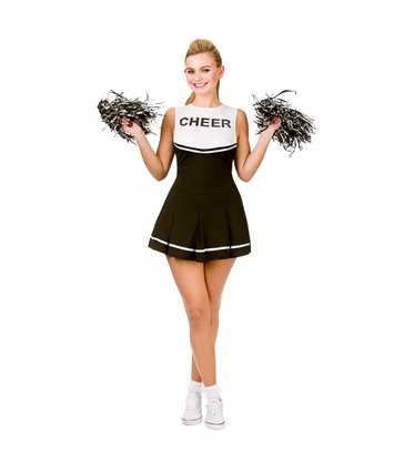 High School Cheerleader - Black (L)