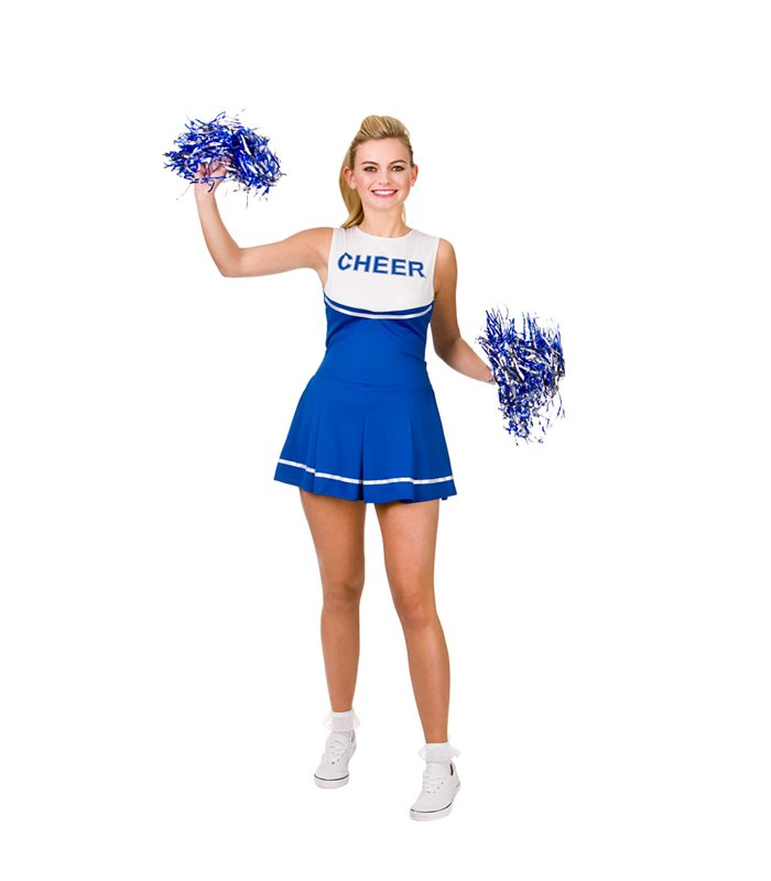 High School Cheerleader - Blue (L)